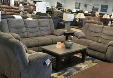Tulen Gray Reclining Living Room Set /couch / Sofa and Loveseat for Sale in Round Rock,  TX