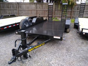 16' Forklift equipment trailer flatbed low profile for Sale in Tampa, FL
