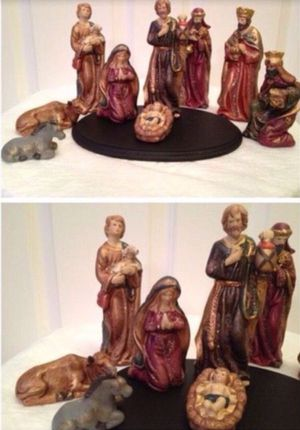 9 Piece Porcelain Nativity Set includes display tray Christmas Holiday with Box🎄IF POSTED THEN AVAILABLE🎄$30 obo for Sale in Plainfield, IL