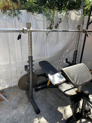 Bench press/ squat rack for Sale in Bell, CA