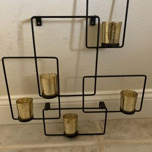 Wall Art With Gold Glass Candle Holders for Sale in Elk Grove, CA