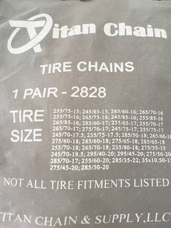 Tire Chains for Sale in Orting,  WA