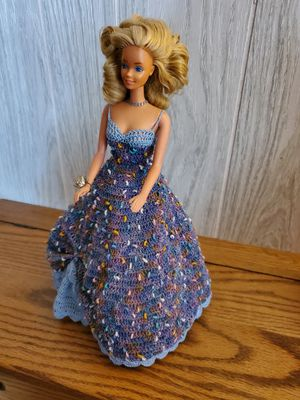 Barbie in Beautiful Homemade/Crochet Gown for Sale in Lacey, WA
