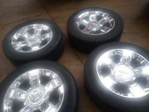 20' factory chevy chrome ltz wheels and tires for Sale in San Antonio, TX