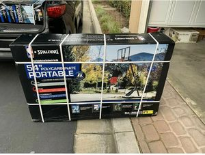 """Spalding NBA 54"""" Portable Angled Basketball Hoop with Polycarbonate Backboard for Sale in New Castle, DE"""