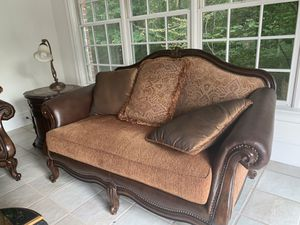 Leather and cushion sofa for Sale in Avon, CT
