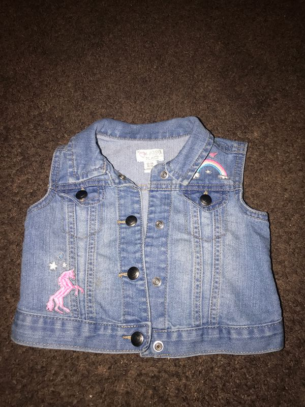 Jean vest size 12/18 months