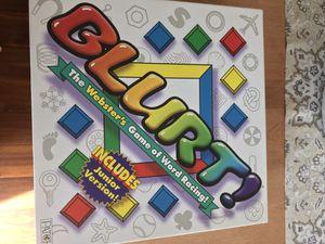 Blurt board game for Sale in Tabernacle, NJ