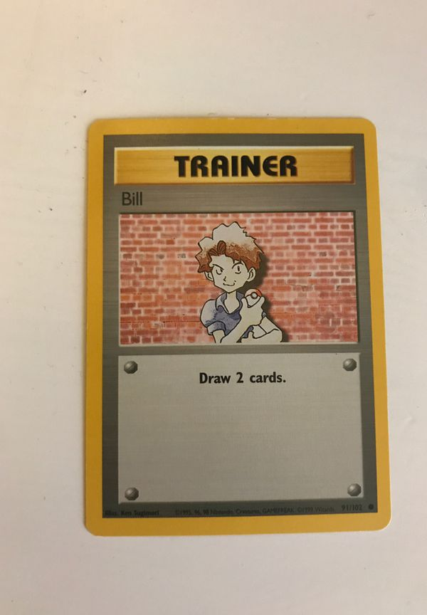 1995 bill trainer Pokémon card