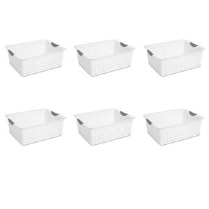 Brand-New 6 PACK 66 Qt Large Clear Plastic Storage Containers Lid Latch Box Organizer Home for Sale in Edgewater, NJ