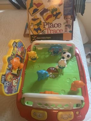 Pop and score soccer set and place and trace puzzle for Sale in Richmond, VA