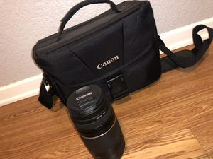 Canon Lens (70-30mm) and Camera bag for Sale in Fort Worth, TX