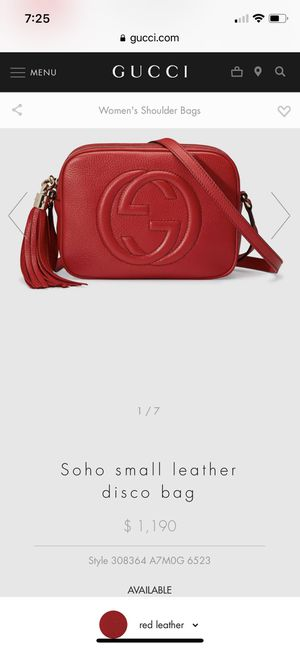 Gucci Soho Small Leather Disco Bag (AUTHENTIC) for Sale in Tampa, FL
