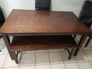 Kitchen table with chairs and bench for Sale in Bakersfield, CA