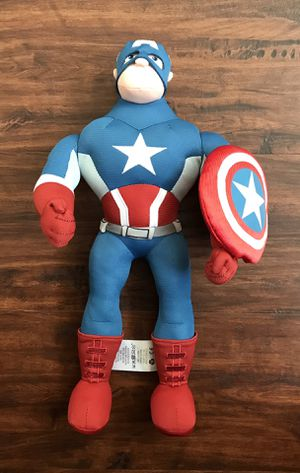 Disney Marvel - Captain America Plush Doll - 14 3/4 inches tall for Sale in Longwood, FL
