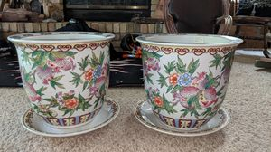 Pair of Maitland Smith planters originally over $1300!!!! for Sale in Midvale, UT