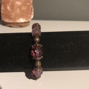 Purple Beaded Bracelet for Sale in Beverly Hills, CA