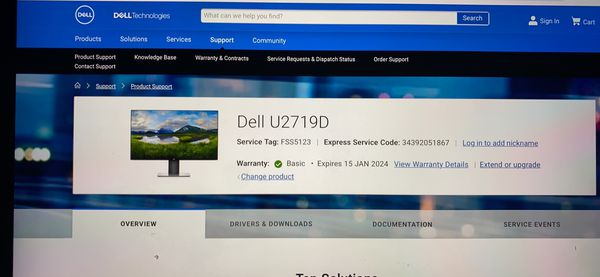 "Dell U2719D - 27"" Ultra Sharp Monitor (Brand New)"