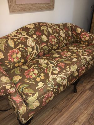Antique Sofa and Full Size Metal Bed frame for Sale in Stone Ridge, NY