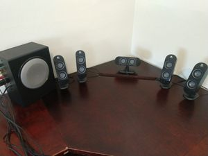 Logitech x-530 computer speakers with sub for Sale in Roanoke, VA