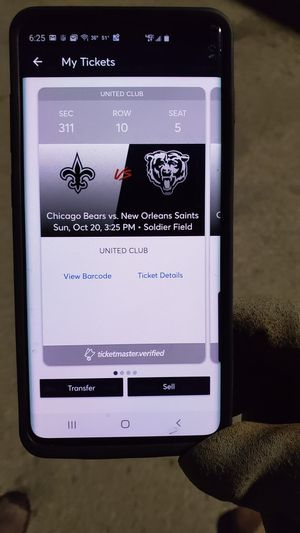 4 tickets for bears game Sunday 20 1100.00 orbest offer for Sale in Crestwood, IL