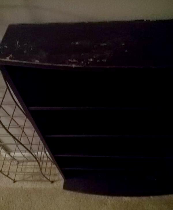 DVD/Blu-ray media storage shelf