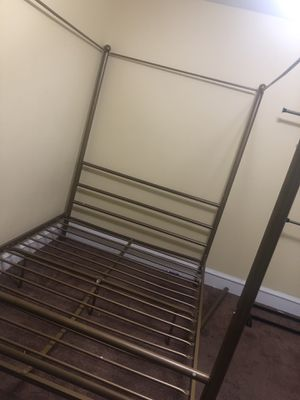 Full size canopy bed frame, bottom slat bent but great condition very sturdy best offer must GO! for Sale in Kirklyn, PA