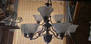2 tier 9 light chandelier with beautiful globes for Sale in St. Louis, MO