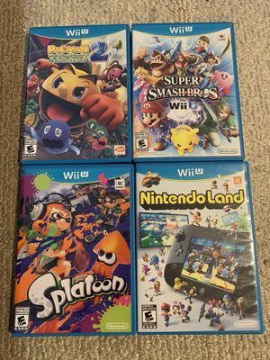 Nintendo Wii U 4 Game Bundle for Sale in Riverside, CA