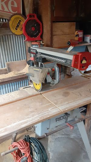 RIDGID radial arm saw for Sale in Green Bay, VA