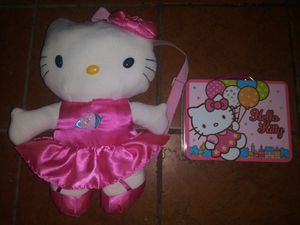 Sanrio Hello Kitty Plush backpack and Tin lunch box for Sale in Hawthorne, CA