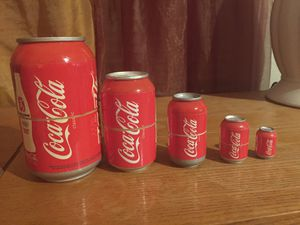 Rare Coca Cola Nesting Cans for Sale in Irving, TX