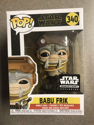Babu Frik Funko Pop Star Wars Smuggles Bounty Exclusive Rise of Skywalker 340 with protector for Sale in Addison, TX