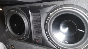 Taking REAL OFFERS SO DONT WASTE MINE OR UR TIME WILL NOT SEPARATE...Stereo system for sale 4 12s ...2 amps and head unit - all wires to hook up for Sale in Grove City, OH