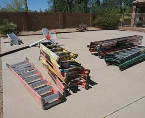 Latters and hardware yo yos. Harnesses ladder rack for a 8 ft bed for Sale in Scottsdale, AZ