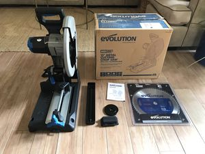 Evolution 380 cps chop saw metal for Sale in Carlsbad, CA