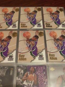 1996/97 NBA HOOPS RAY ALLEN ROOKIE CARD 20 EACH for Sale in Las Vegas,  NV