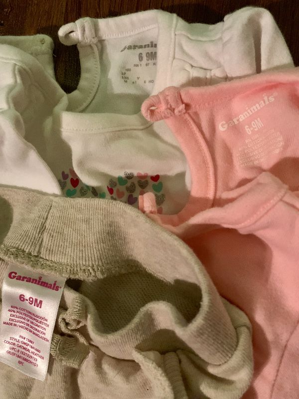 Baby Girl 2 Onesies and Pants Garanimals 6-9 Months