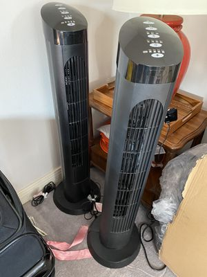 Tower fan, No problem, works like new. $10 each for Sale in El Monte, CA