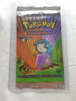Pokemon Gym Challenge 1st Edition Booster Pack - Weighed Light for Sale in Old Mill Creek, IL