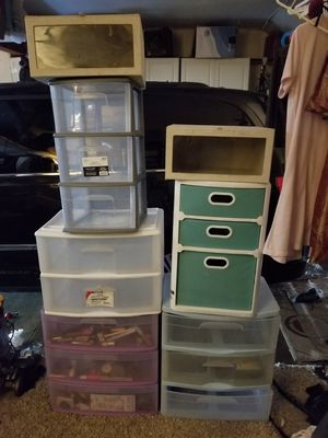 Plastic drawers for Sale in Fountain Valley, CA