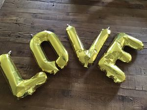 Balloon letters LOVE for Sale in Hershey, PA