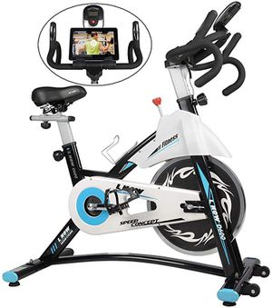 Indoor Exercise Bike Indoor Cycling Stationary Bike, Belt Drive with Heart Rate, Adjustable Seat and Handlebar, Tablet Holder, Stable Quiet and Smoo for Sale in Bellevue, WA