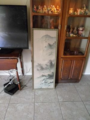 Large oriental panel art framed for Sale in Milan, IL