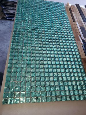 50 new pieces= green turquoise glass tile= 3 dlr a piece for Sale in Glendale, AZ