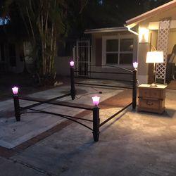 King size steel bed frame, refurbished/custom for Sale in Orlando,  FL