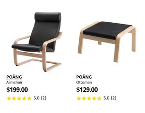 Poang armchair and ottoman for Sale in Murray, UT