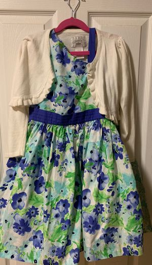 Gymboree floral Holiday dress with white Cardigan for Sale in Roselle, IL