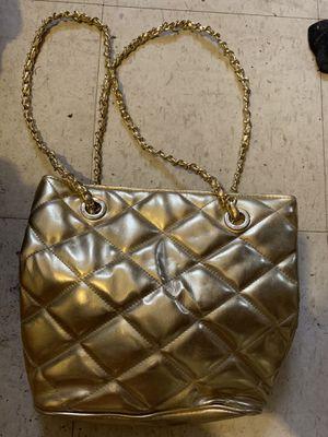Gold bubbled handbag for Sale in Copan, OK