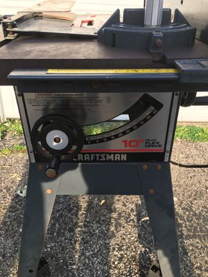 Craftsman's 10 inch flex drive table saw 1 1/16 hp for Sale in Columbus, OH